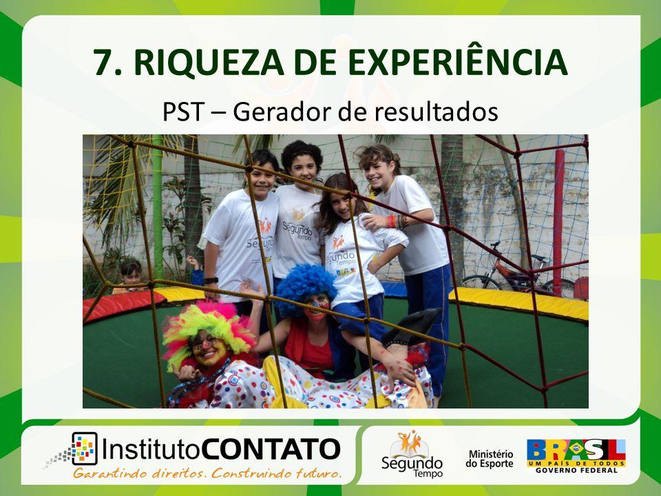 7. RIQUEZA DE EXPERIÊNCIA PST – Gerador de resultados