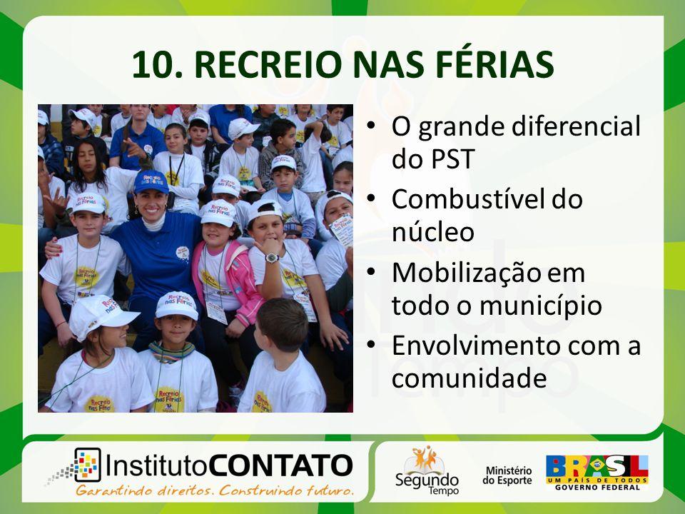 O grande diferencial do PST Combustível do núcleo Mobilização em todo o município Envolvimento com a comunidade
