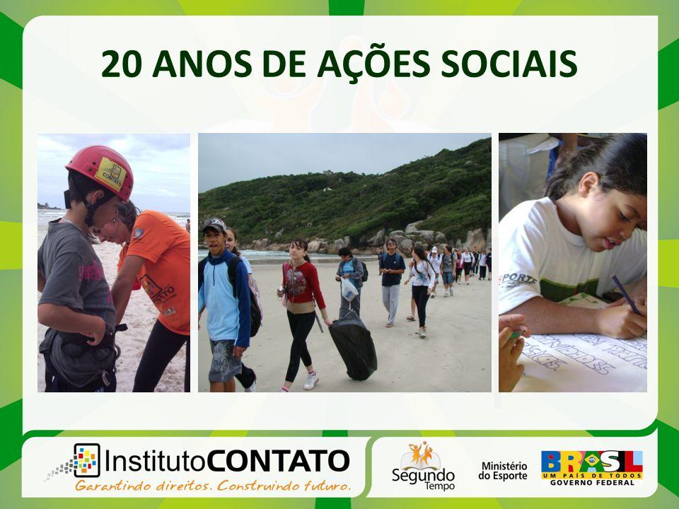 20 ANOS DE AÇÕES SOCIAIS