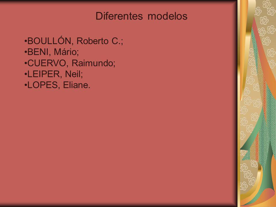 Diferentes modelos BOULLÓN, Roberto C.; BENI, Mário; CUERVO, Raimundo; LEIPER, Neil; LOPES, Eliane.