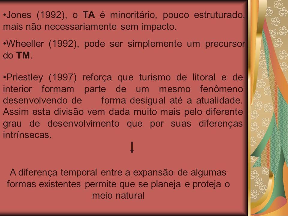 Jones (1992), o TA é minoritário, pouco estruturado, mais não necessariamente sem impacto.