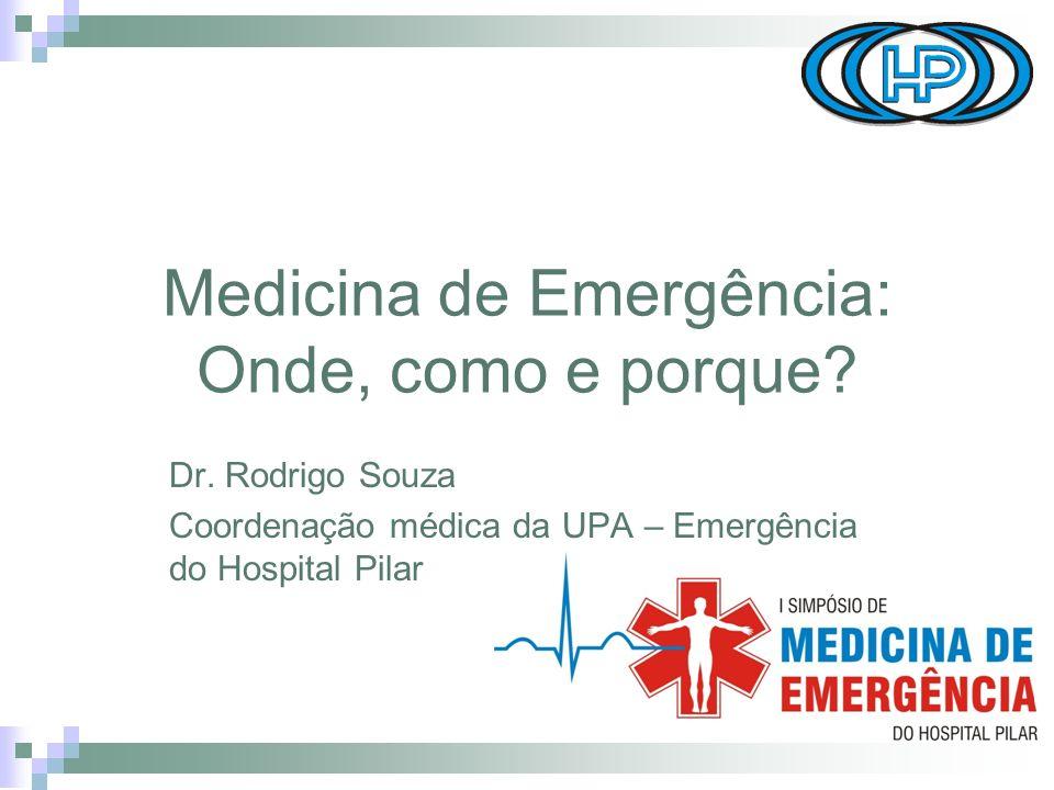 Medicina de Emergência: Onde, como e porque.Dr.