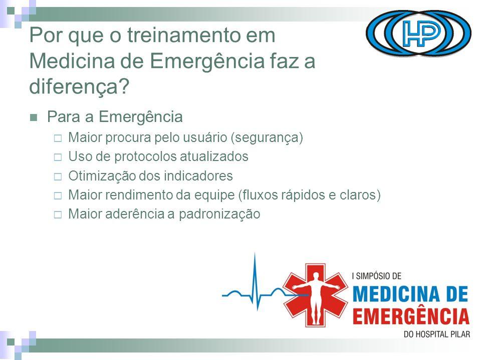 Por que o treinamento em Medicina de Emergência faz a diferença.