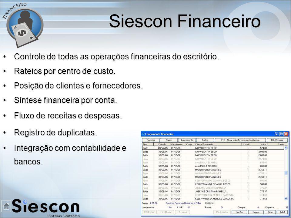 Controle de todas as operações financeiras do escritório.Controle de todas as operações financeiras do escritório.