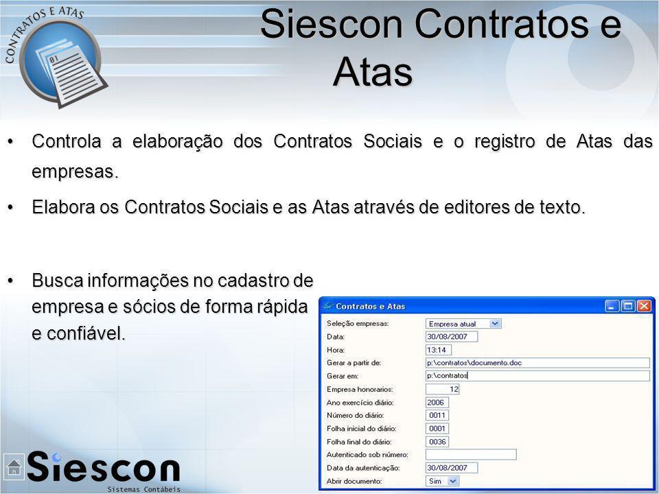 Controla a elaboração dos Contratos Sociais e o registro de Atas das empresas.Controla a elaboração dos Contratos Sociais e o registro de Atas das empresas.
