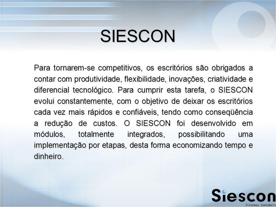 Siescon Ordem de Serviço Siescon Ordem de Serviço Para melhorar o atendimento aos Clientes e controle de suas solicitações, registramos em Ordens de Serviço.