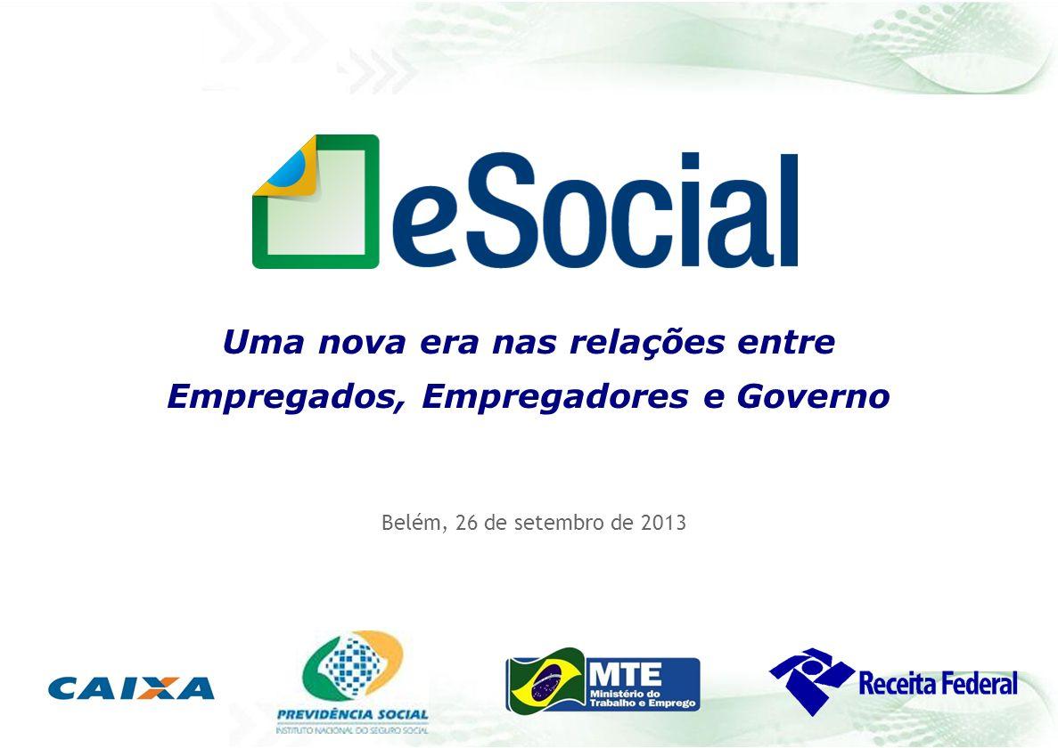 Belém, 26 de setembro de 2013 Uma nova era nas relações entre Empregados, Empregadores e Governo