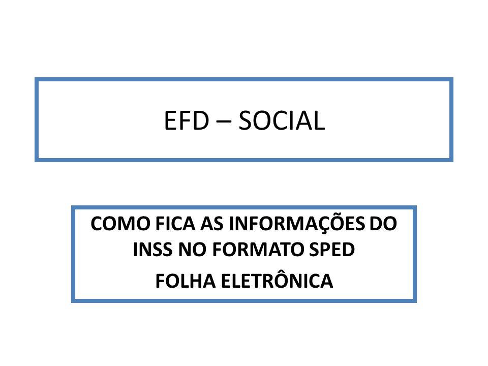 EFD – SOCIAL COMO FICA AS INFORMAÇÕES DO INSS NO FORMATO SPED FOLHA ELETRÔNICA