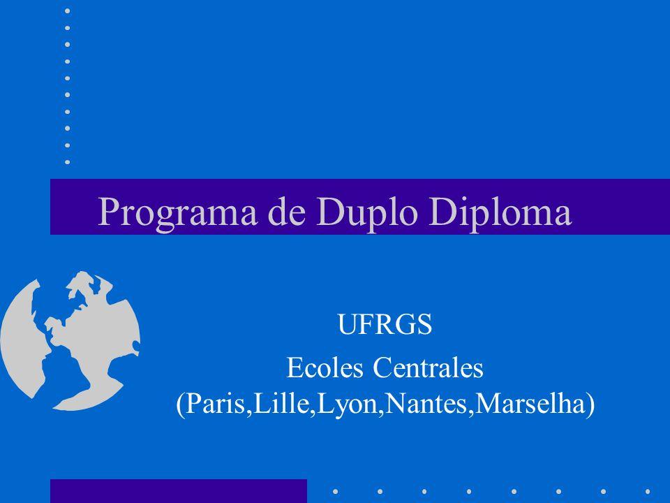 Programa de Duplo Diploma UFRGS Ecoles Centrales (Paris,Lille,Lyon,Nantes,Marselha)