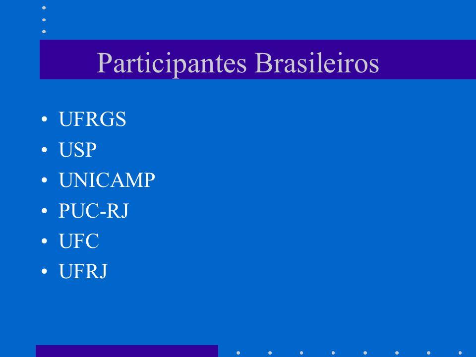 Participantes Brasileiros UFRGS USP UNICAMP PUC-RJ UFC UFRJ