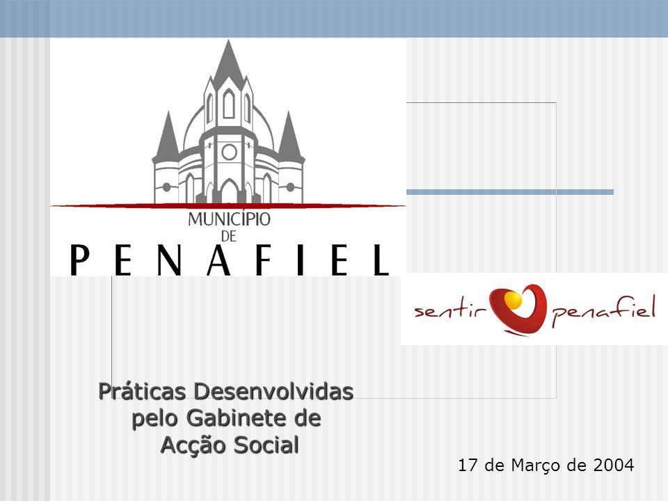17 de Março de 2004 Práticas Desenvolvidas pelo Gabinete de Acção Social Acção Social