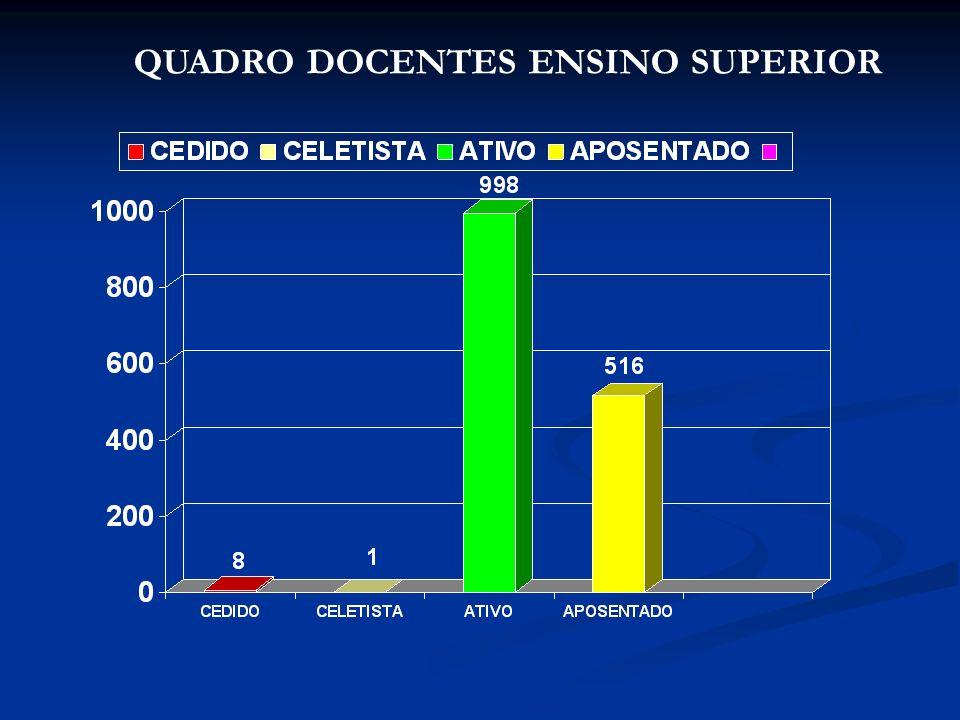 QUADRO DOCENTES ENSINO SUPERIOR