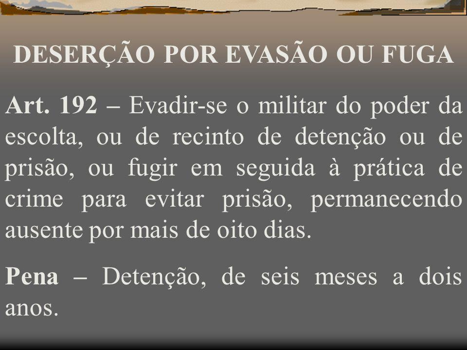 Pena – Detenção até três meses, se após a partida ou deslocamento, se apresentar, dentro em vinte e quatro horas, à autoridade militar do lugar, ou, n