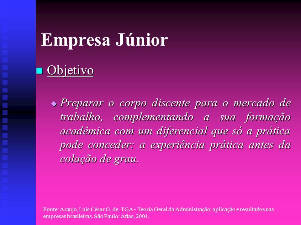 Fonte: Araujo, Luis César G. de. TGA - Teoria Geral da Administração; aplicação e resultados nas empresas brasileiras. São Paulo: Atlas, 2004. Empresa