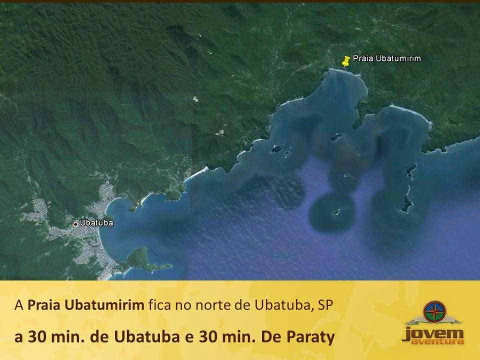 A Praia Ubatumirim fica no norte de Ubatuba, SP a 30 min. de Ubatuba e 30 min. De Paraty