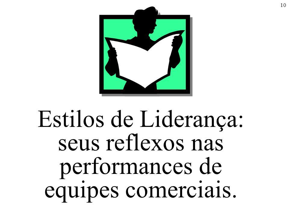 10 Estilos de Liderança: seus reflexos nas performances de equipes comerciais.