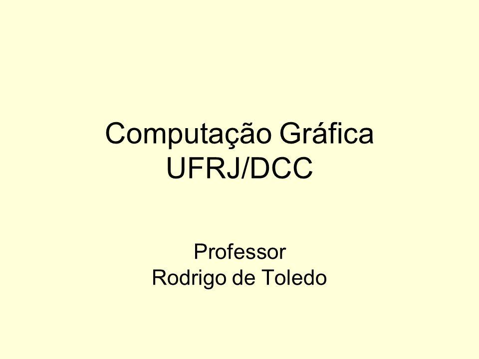 Computação Gráfica UFRJ/DCC Professor Rodrigo de Toledo