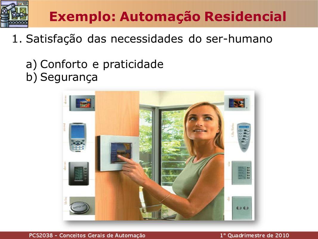 Exemplo: Automação Residencial 1.Satisfação das necessidades do ser-humano a)Conforto e praticidade b)Segurança