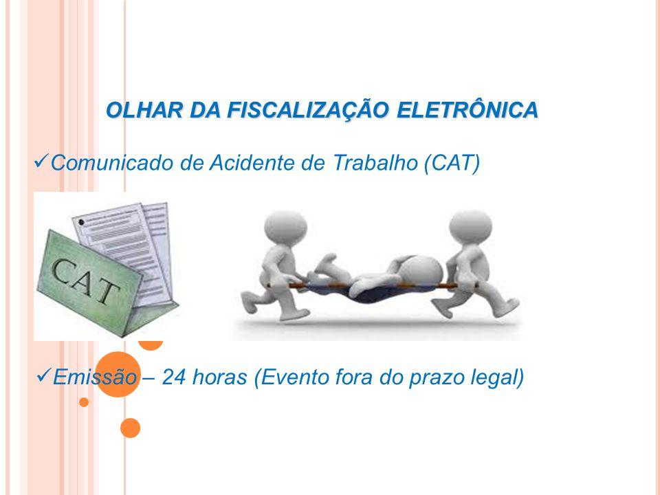 OLHAR DA FISCALIZAÇÃO ELETRÔNICA Comunicado de Acidente de Trabalho (CAT) Emissão – 24 horas (Evento fora do prazo legal)