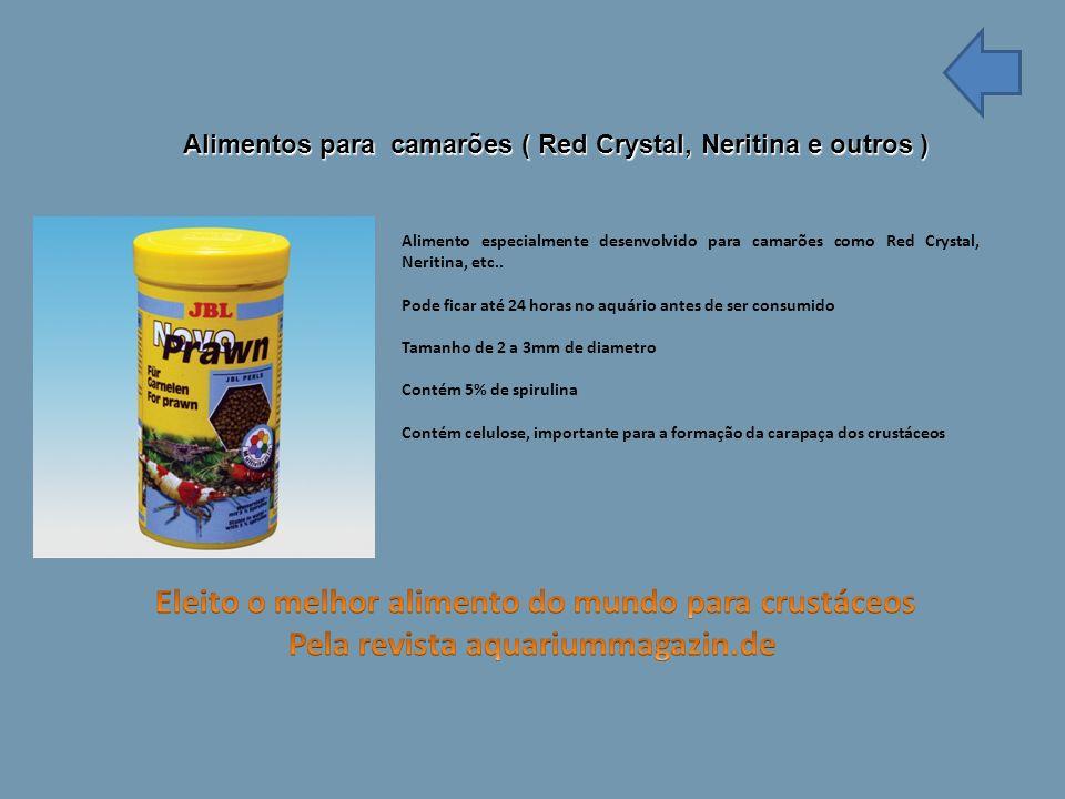 Alimentos para camarões ( Red Crystal, Neritina e outros ) Alimento especialmente desenvolvido para camarões como Red Crystal, Neritina, etc..