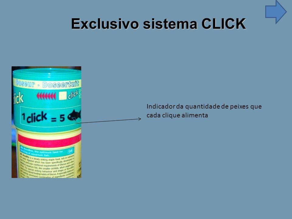 Indicador da quantidade de peixes que cada clique alimenta Exclusivo sistema CLICK