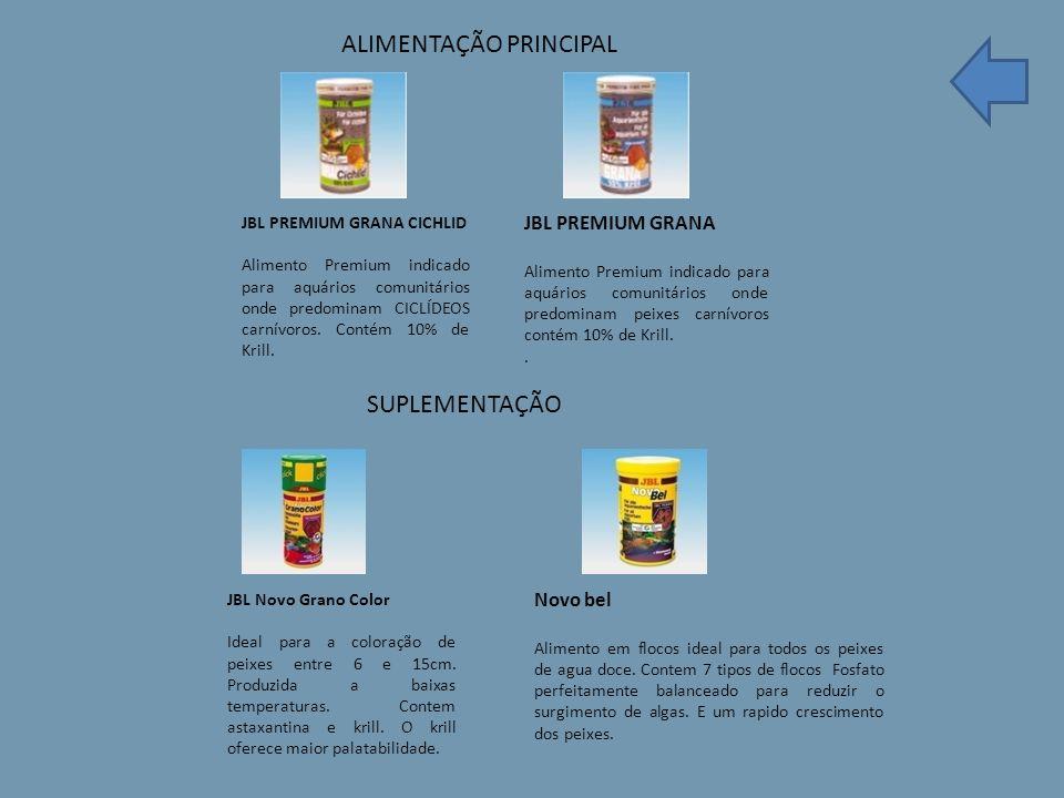 JBL PREMIUM GRANA CICHLID Alimento Premium indicado para aquários comunitários onde predominam CICLÍDEOS carnívoros.