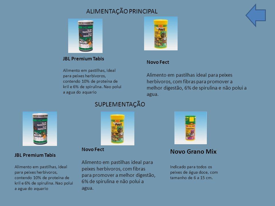JBL Premium Tabis Alimento em pastilhas, ideal para peixes herbivoros, contendo 10% de proteína de kril e 6% de spirulina.