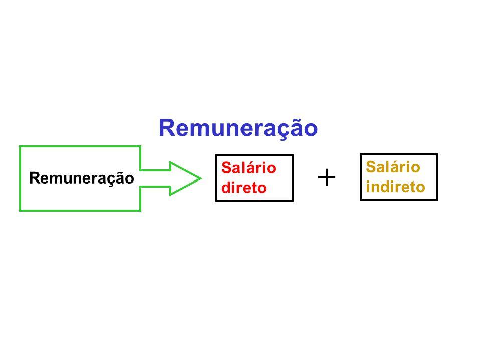 Remuneração Salário direto Salário indireto +