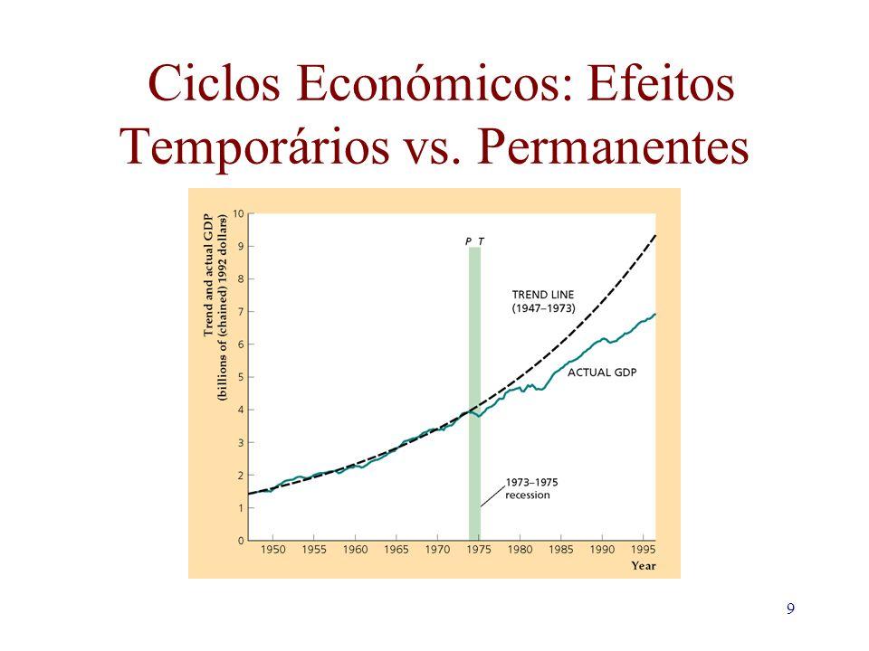 9 Ciclos Económicos: Efeitos Temporários vs. Permanentes