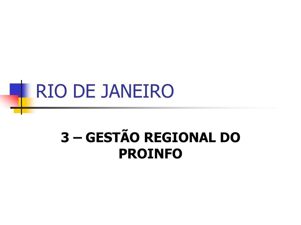RIO DE JANEIRO 3 – GESTÃO REGIONAL DO PROINFO