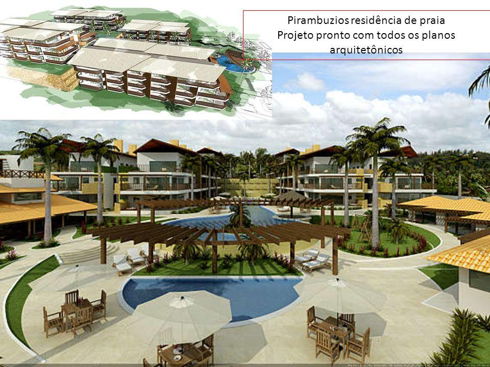 Pirambuzios residência de praia Projeto pronto com todos os planos arquitetônicos