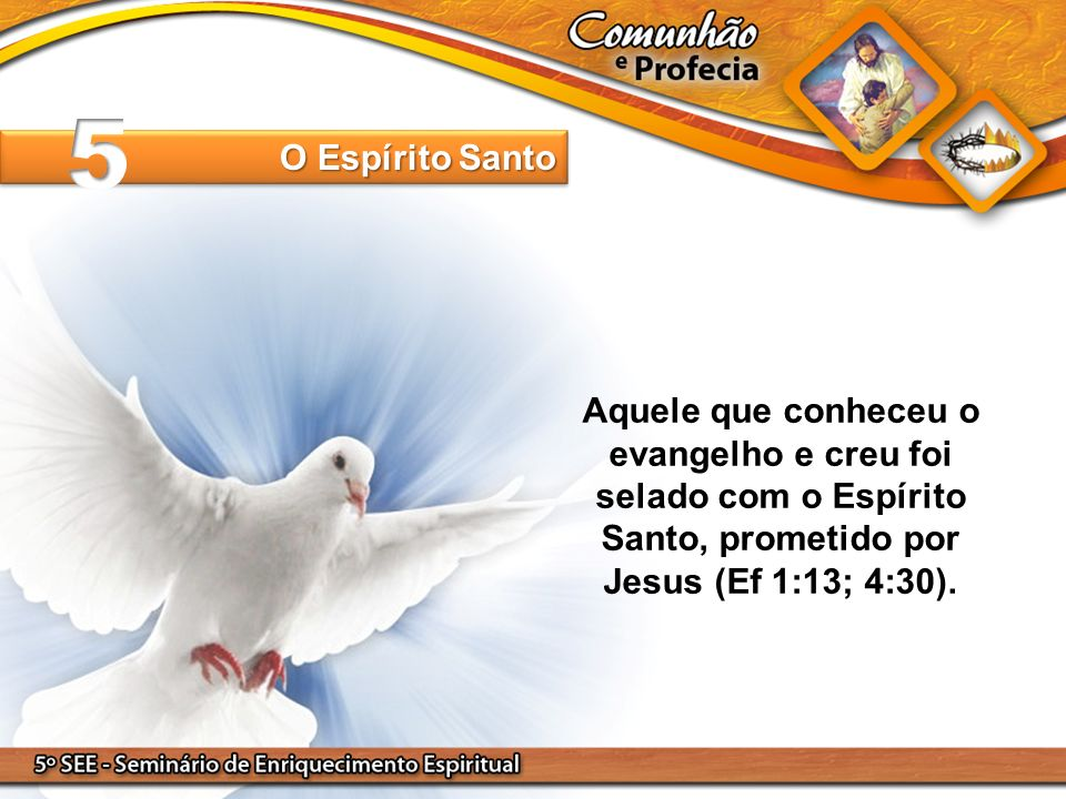 Aquele que conheceu o evangelho e creu foi selado com o Espírito Santo, prometido por Jesus (Ef 1:13; 4:30). O Espírito Santo
