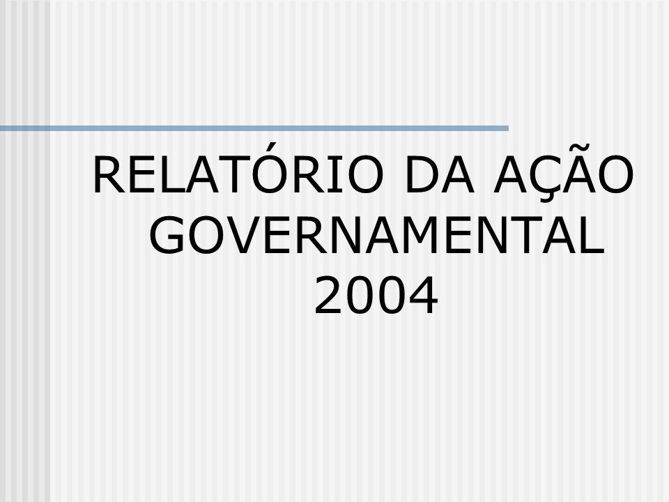 RELATÓRIO DA AÇÃO GOVERNAMENTAL 2004
