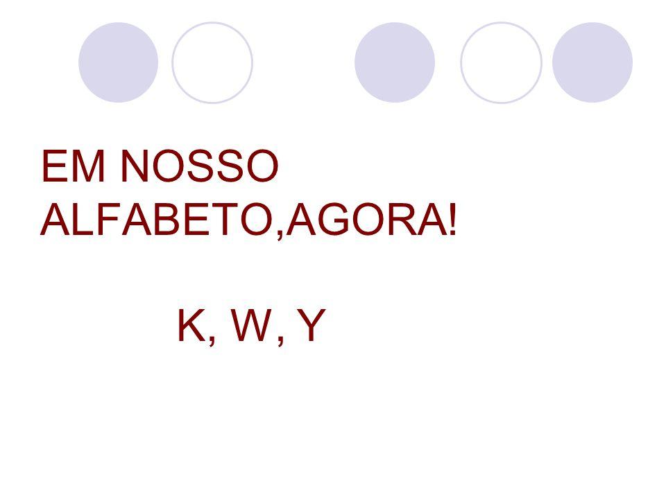 EM NOSSO ALFABETO,AGORA! K, W, Y