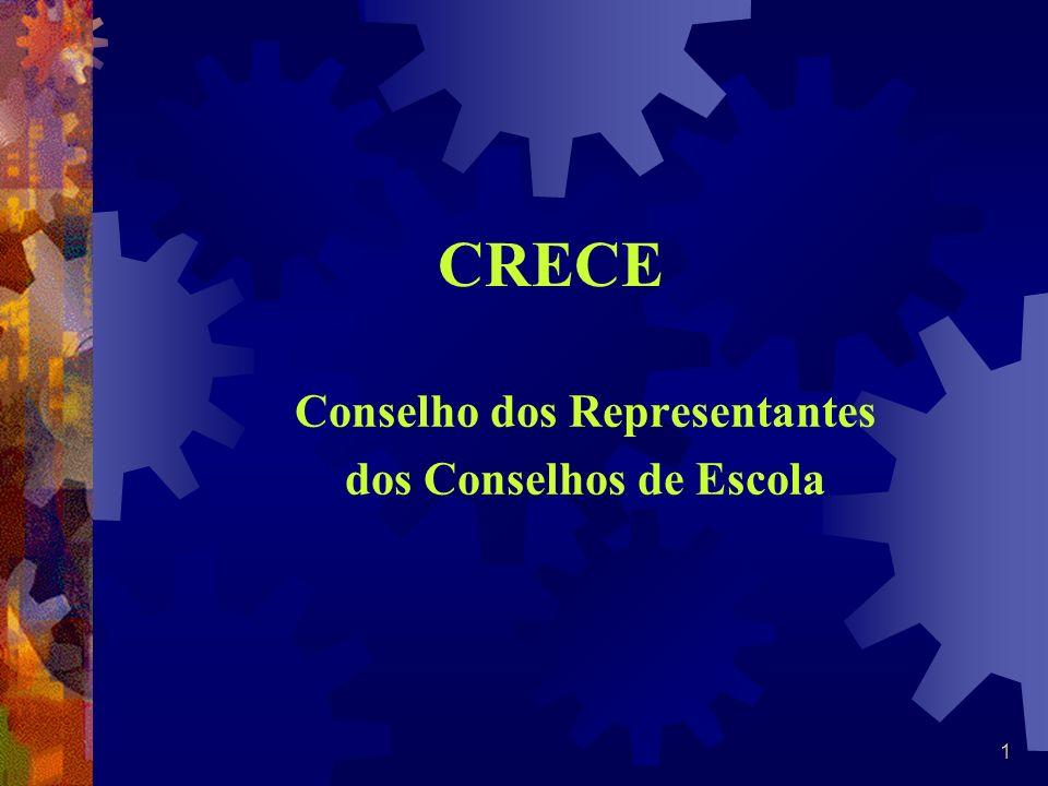 1 CRECE Conselho dos Representantes dos Conselhos de Escola