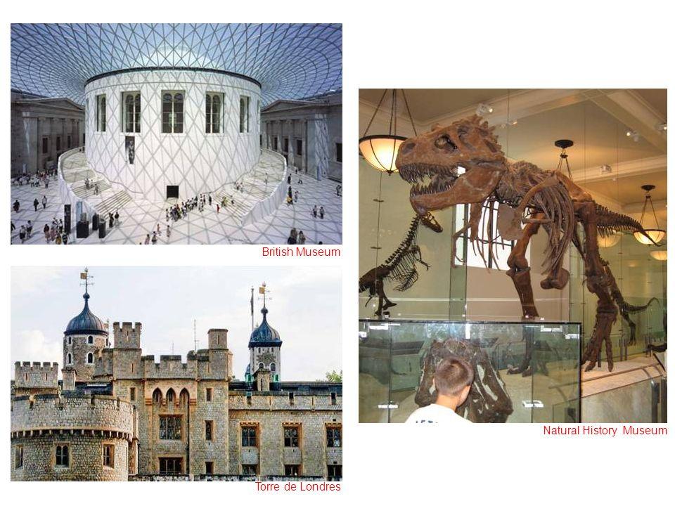 British Museum Torre de Londres Natural History Museum