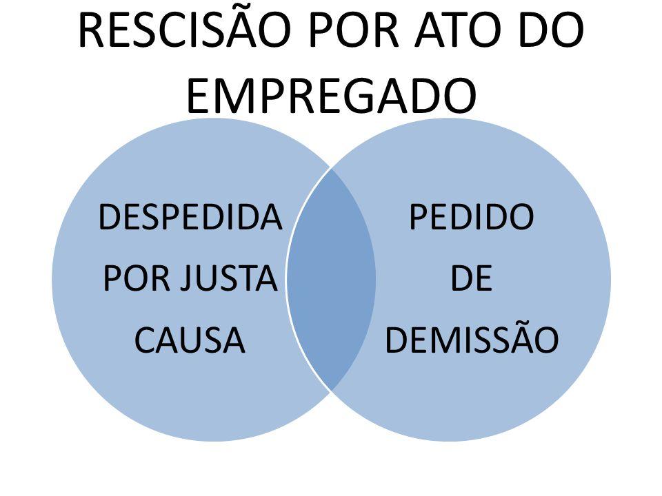 RESCISÃO POR ATO DO EMPREGADO DESPEDIDA POR JUSTA CAUSA PEDIDO DE DEMISSÃO