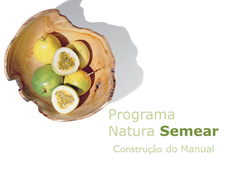 Construção do Manual Programa Natura Semear