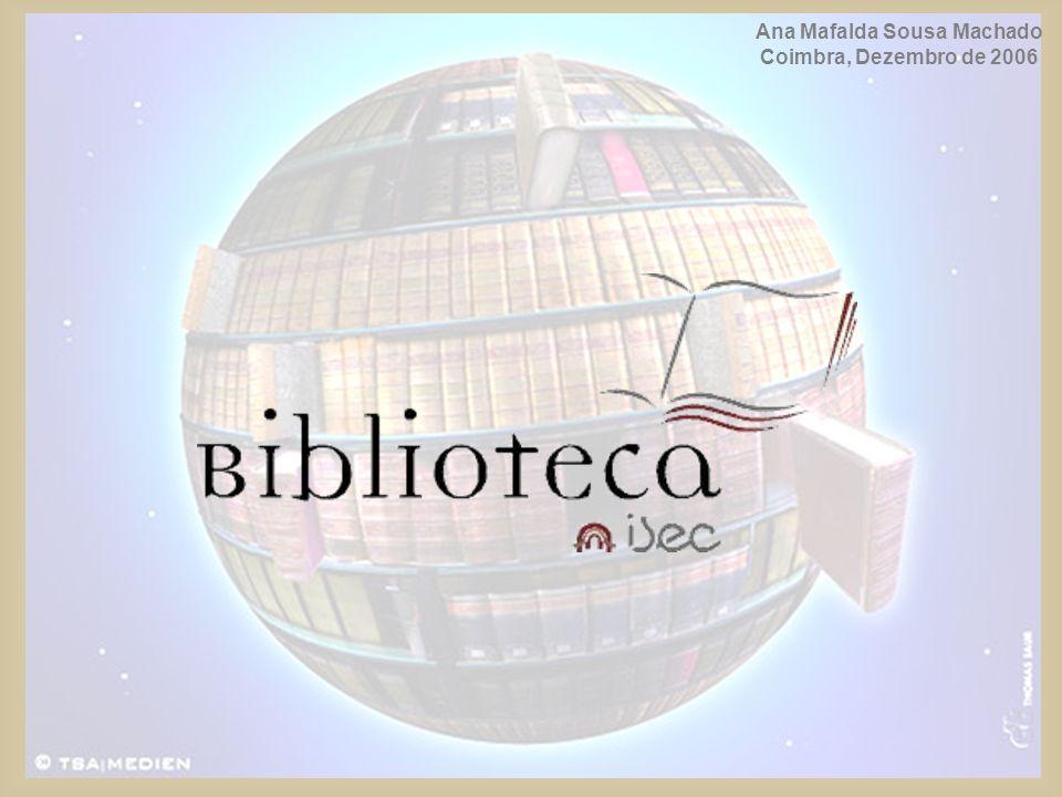 INSTALAÇÕES (planta) 1 - catálogo 2 - sala de leitura (monografias) 3 - sala de leitura (periódicos) 4 – gabinetes para trabalho de grupo 5 - jardim 1 2 4 4 5 3 2
