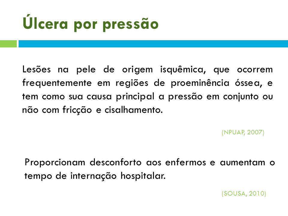 Úlcera por pressão Em pacientes cirúrgicos: tempo de cirurgia sedação umidade acentuada pelo uso de produtos de antissepsia.