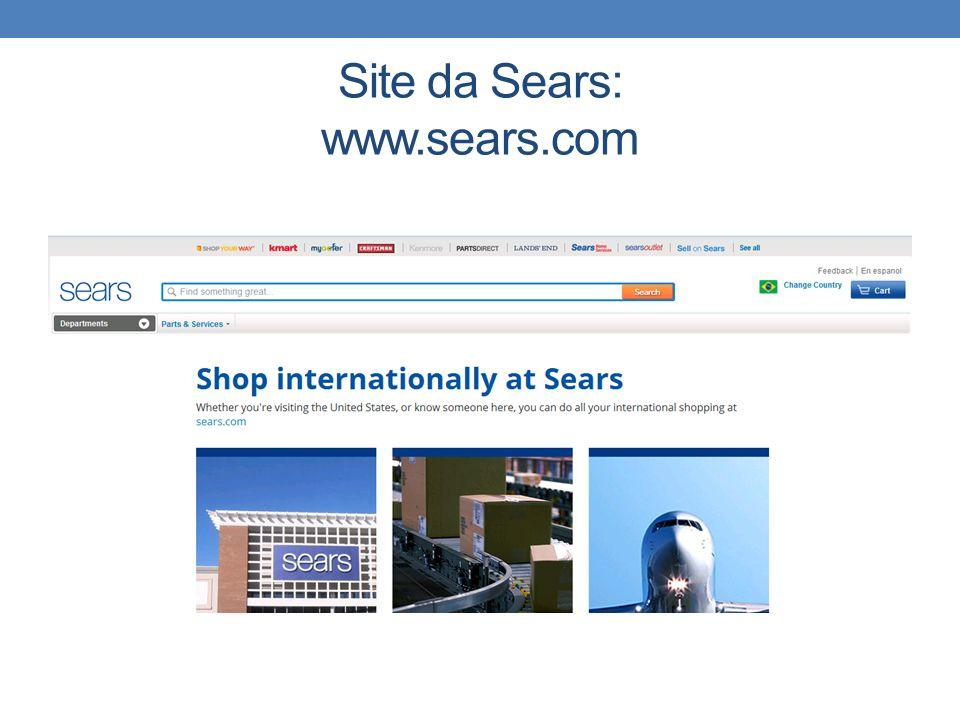 Site da Sears: www.sears.com
