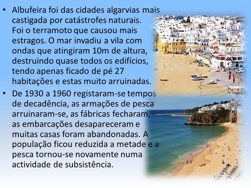 No início da década de 60, assistiu-se o nascimento do fenómeno turístico, Albufeira foi procurada por turistas nacionais.