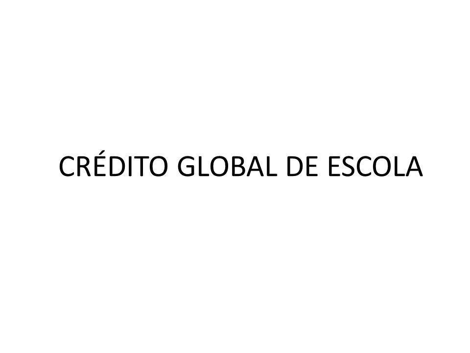 CRÉDITO GLOBAL DE ESCOLA