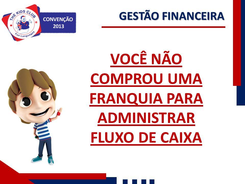 VOCÊ NÃO COMPROU UMA FRANQUIA PARA ADMINISTRAR FLUXO DE CAIXA GESTÃO FINANCEIRA