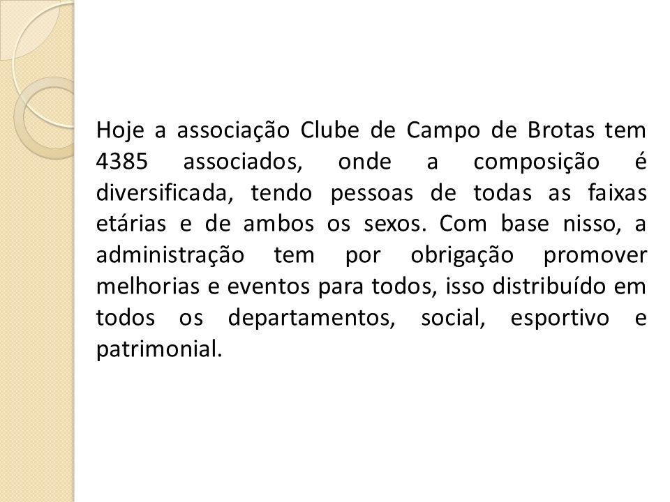 Hoje a associação Clube de Campo de Brotas tem 4385 associados, onde a composição é diversificada, tendo pessoas de todas as faixas etárias e de ambos