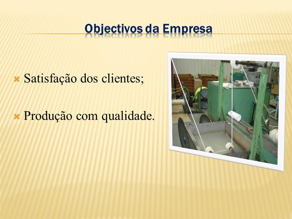Satisfação dos clientes; Produção com qualidade.