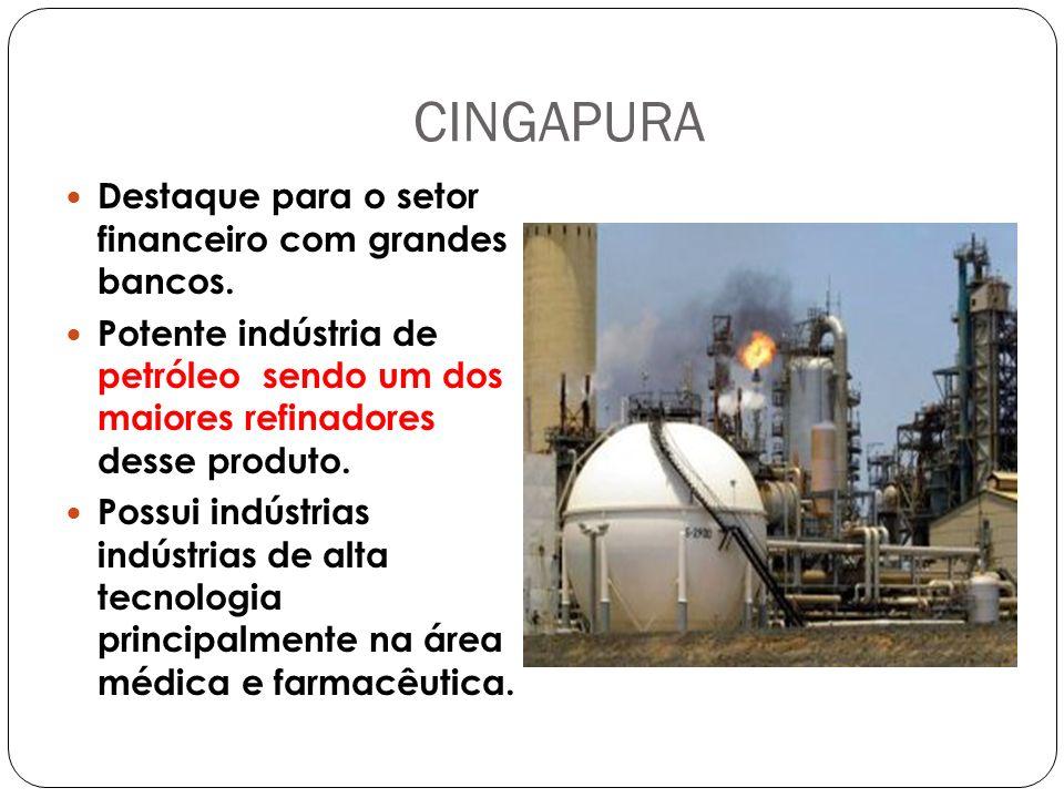 CINGAPURA Destaque para o setor financeiro com grandes bancos.
