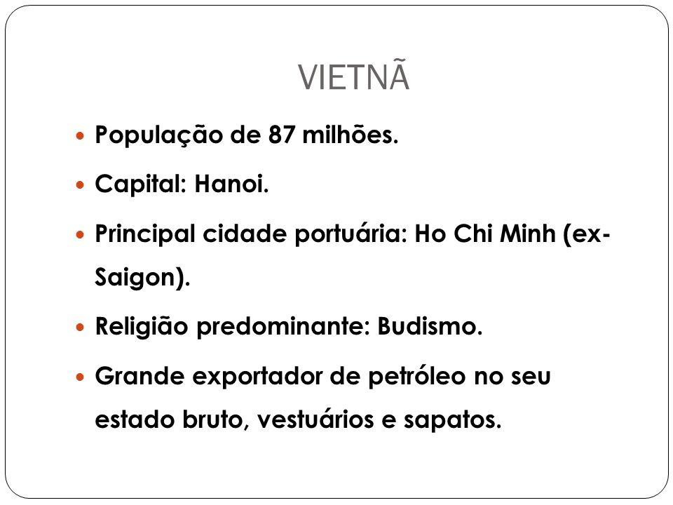 VIETNÃ População de 87 milhões.Capital: Hanoi.