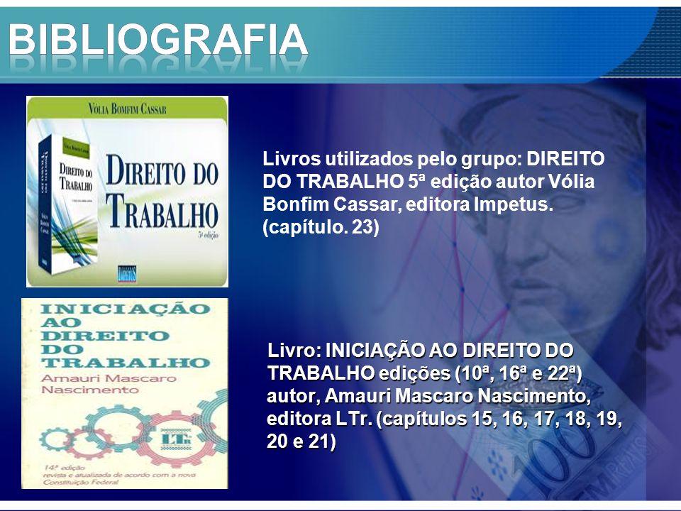 Livro: INICIAÇÃO AO DIREITO DO TRABALHO edições (10ª, 16ª e 22ª) autor, Amauri Mascaro Nascimento, editora LTr.