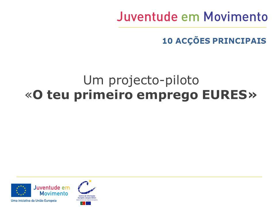 Um projecto-piloto «O teu primeiro emprego EURES» 10 ACÇÕES PRINCIPAIS